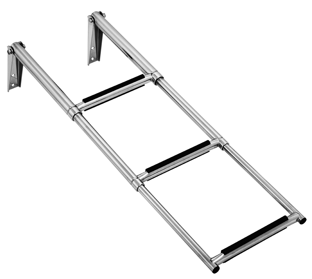 3 stage s  s telescopic boarding ladder l860mm x w285mm